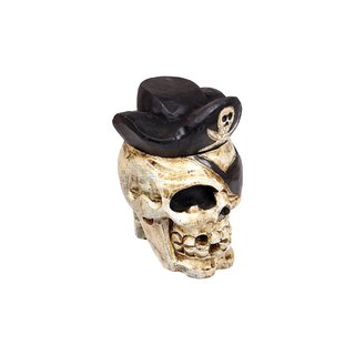 Totenkopffigur mit Hut