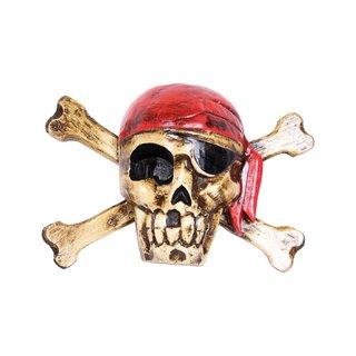Piratenmaske rotes Kopftuch