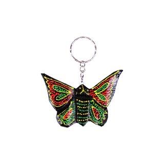 Schlüsselanhänger Schmetterling handbemalt