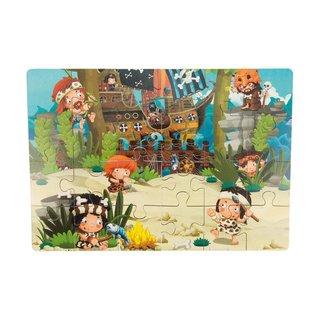 Holz-Puzzle Piraten gestrandet - 24 Teile