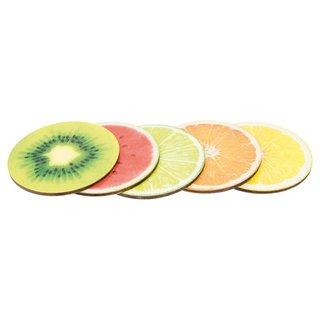 Getränke-Untersetzer Früchte Set