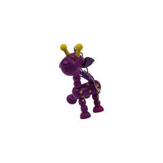 Schlüsselanhänger Giraffe lila