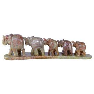 Speckstein Elefantenfamilie 5er