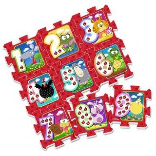 Bodenpuzzle Animals Rot 9-Teilig