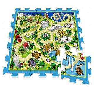 Bodenpuzzle Track Grün / Blau 9-Teilig