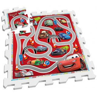 Bodenpuzzle Cars Rot / Weiß 9-Teilig