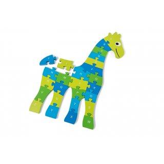 Bodenpuzzle Giraffe 60 X 40 Cm Grün/Blau 26 Teile