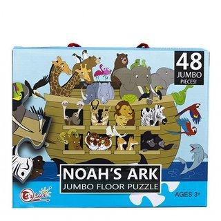 Bodenpuzzle Arche Noah 90 X 60 Cm 48-Teilig Mehrfarbig