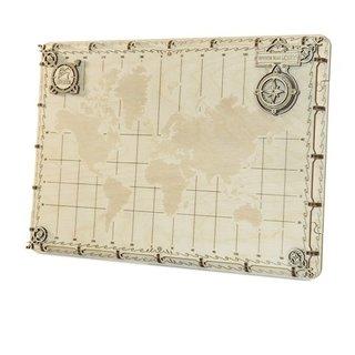 3D Puzzle Weltkarte 35 X 25 X 2 Cm Punkte