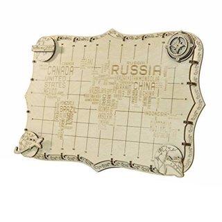 3D Puzzle Weltkarte 34 X 23 X 2 Cm Wörter