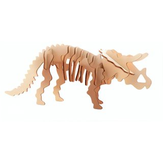 3D Dinosaurier Puzzle Holz Triceratops