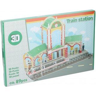 Puzzle 3D-Bahnhof 89 Teile