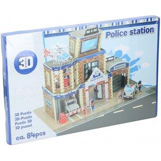 Puzzle 3D-Polizeiwache 84 Teile