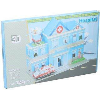 Puzzle 3D-Krankenhaus 122 Teile