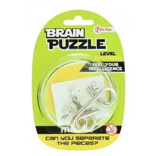 Brain Cracker Brain Puzzleanfänger Silber