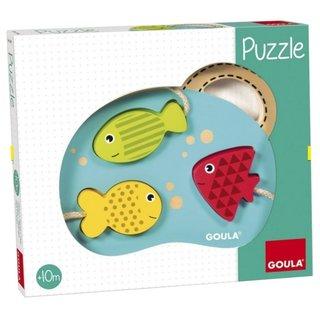 Mein Erstes Puzzle Fisch Holz 3 Stück