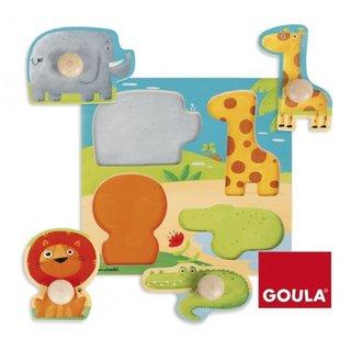 Blase Puzzle Dschungeltiere Holz 4 Stück
