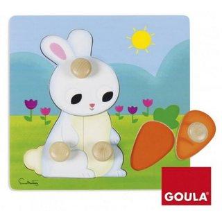 Bubble Puzzle Rabbit Holz 4 Stück