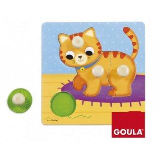 Bubble Puzzle Cat Holz 4 Stück