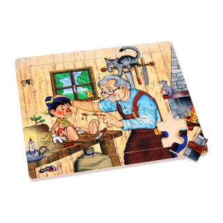 Wood Puzzle PinocchioS Workshop 20-Stück-