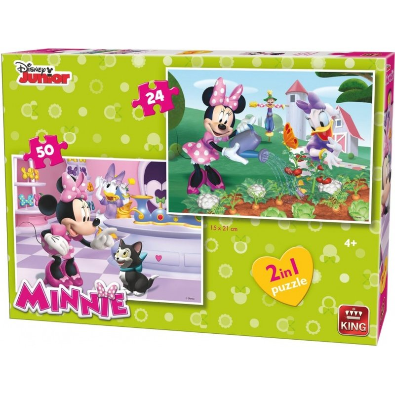 Puzzle 2 In 1 Disney Mini Mouse Bow-Tique