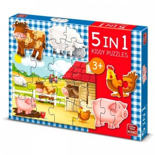 Stichsäge Kiddy Puzzles 5-In-1 - Farm 12 Bits