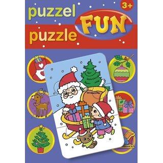 Weihnachten Puzzle 17 Cm 15 St.
