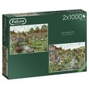 Falke Puzzle Village Life 2 X 1000 Stück
