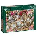 Puzzle Floral Cats 1000 Teile