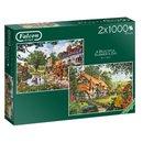 Puzzle Ein Schöner Sommertag 2X1000 Teile