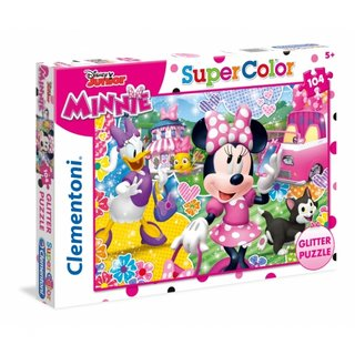 Puzzle Glitter Puzzle Minnie 104 Teile