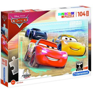 Maxi Superfarbiges Puzzle Autos 104 Teile