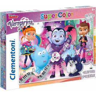 Superfarbiges Glitzerpuzzle Vampirina 104 Teile