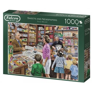 Puzzle Falcon Sweets And Newspapers1000 Teile