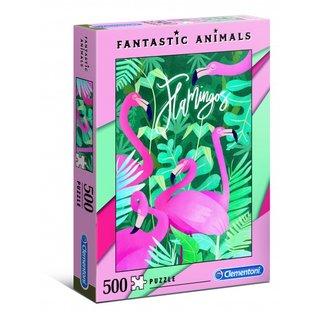 Puzzle Fantastic Animals500 Teile Flamingo