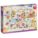 Puzzle Flower Stamps, Summer Flowers1000 Teile