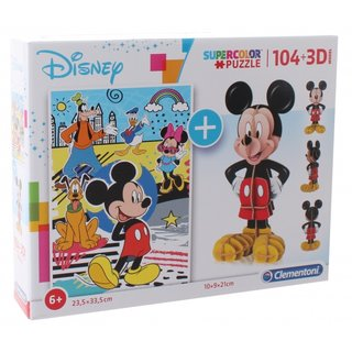 Puzzle Mit Bausatz Mickey Mouse104 Teile
