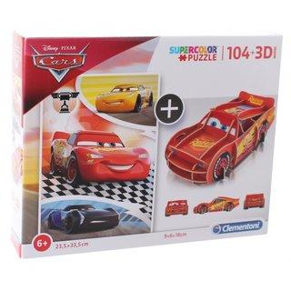 Puzzle Mit Bausatz Cars104 Teile