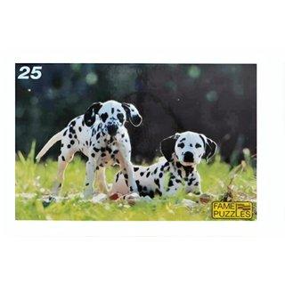 Puzzle Dalmatiner 25 Teile Mehrfarbig