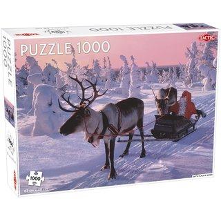 Puzzle Weihnachtsmann Im Schlitten 1000 Teile