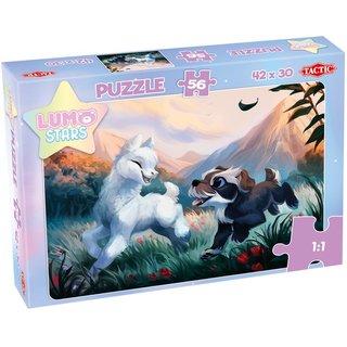 Kinderpuzzle Lumo Starslama Und Welpe 56 Teile