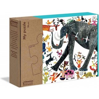 Ecopuzzle-Elefant 24 Teile