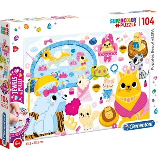 Puzzle Puppie Beauty & Spa Jewels 104 Teile