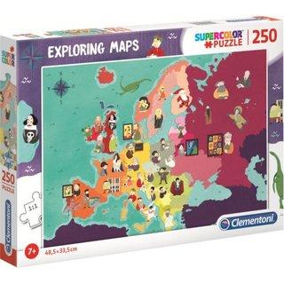 """Puzzle """"Karten Erforschen"""": Berühmtheiten 250 Stück"""