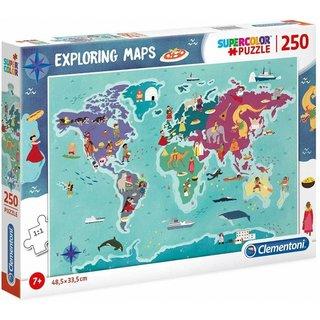 Puzzle Exploring Maps: Kultur 250 Teile