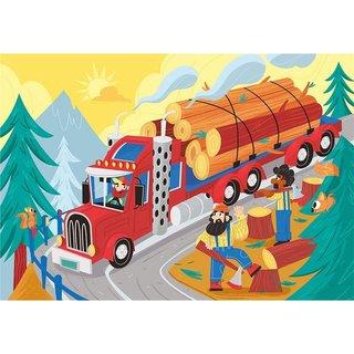 Puzzle Rahmentransport Holzwagen 15 Teile