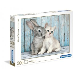 Puzzle High Qualitykatze&Hase 500 Teile