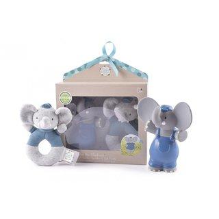 Set Elefant Alvin Gummi / Baumwolle 18 X 21 Cm