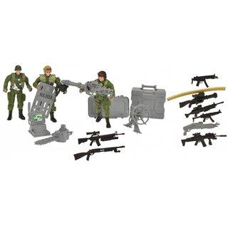 Spielset Armysoldaten Mit Zubehör 19-Teilig Armee Grün