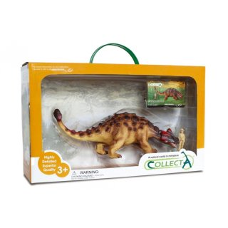 Prehistorie: Ankylosaurus Spielset 1:40 35 Cm Braun